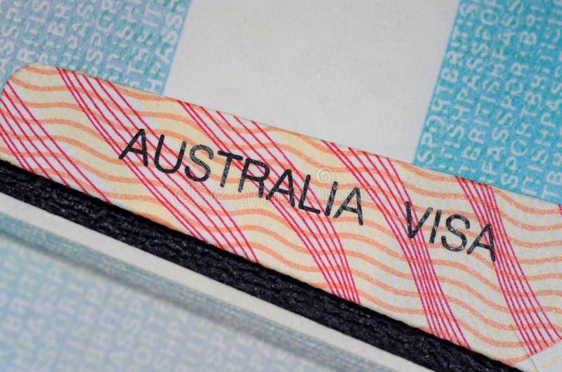 澳大利亚签证 免版税库存照片