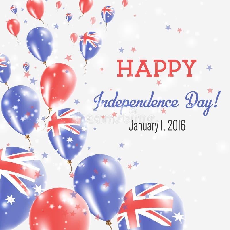 澳大利亚美国独立日贺卡 库存例证