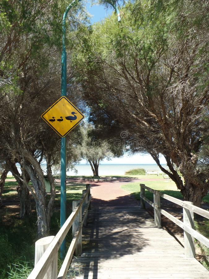 澳大利亚自然省路标 图库摄影