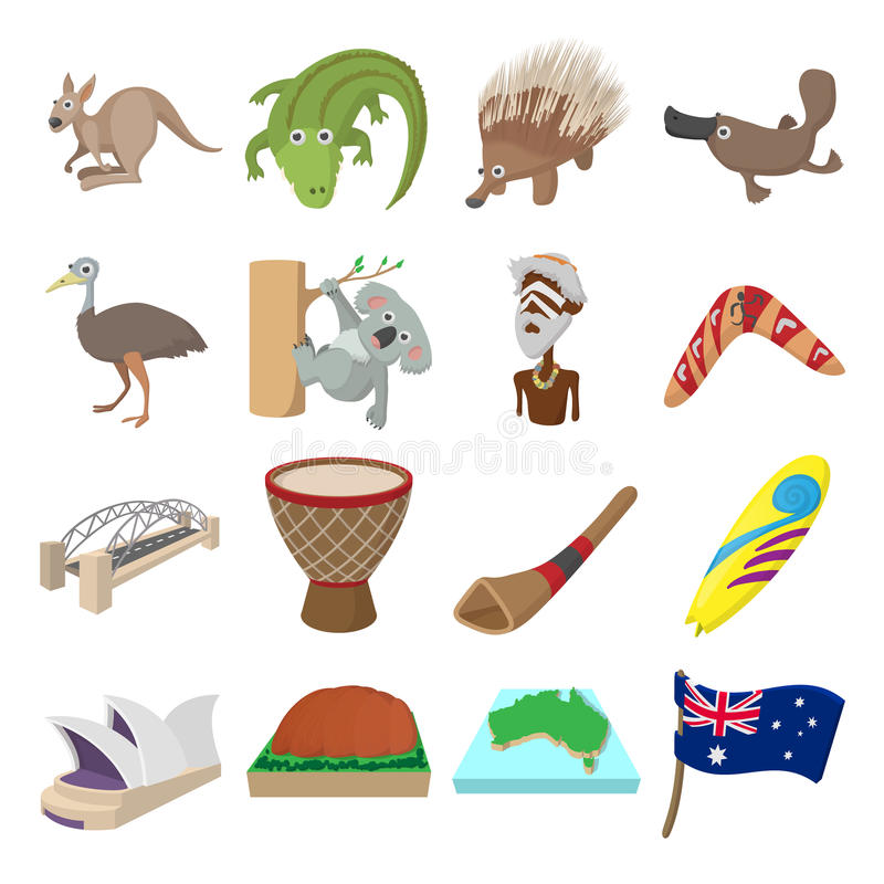 澳大利亚象动画片 向量例证