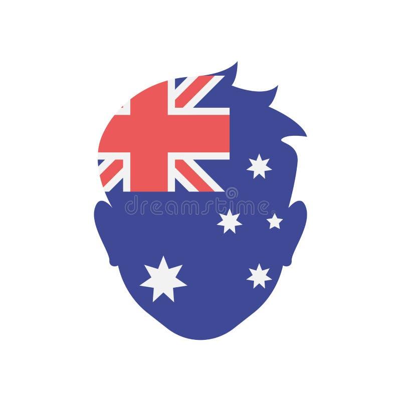 澳大利亚象在白色backgrou和标志隔绝的传染媒介标志 向量例证
