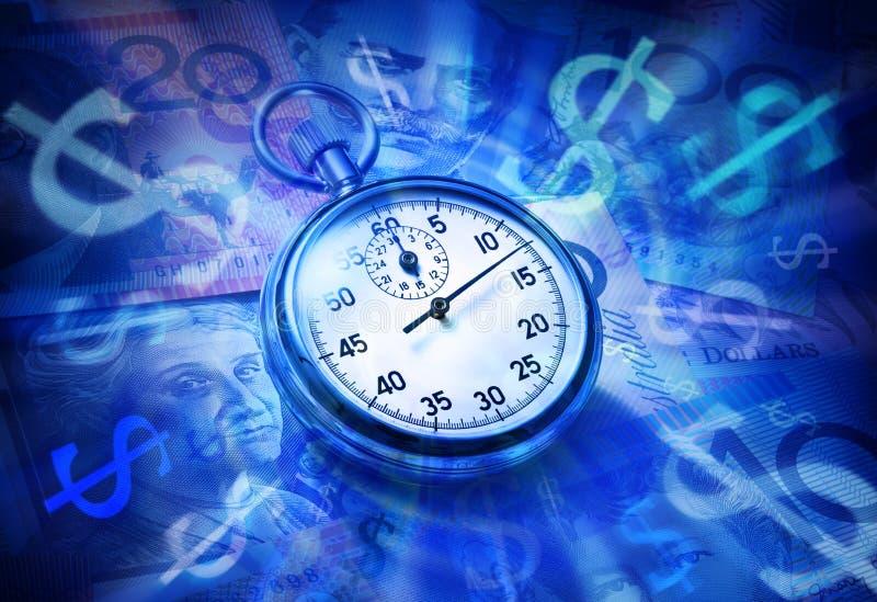 澳大利亚货币退休金时间 库存照片