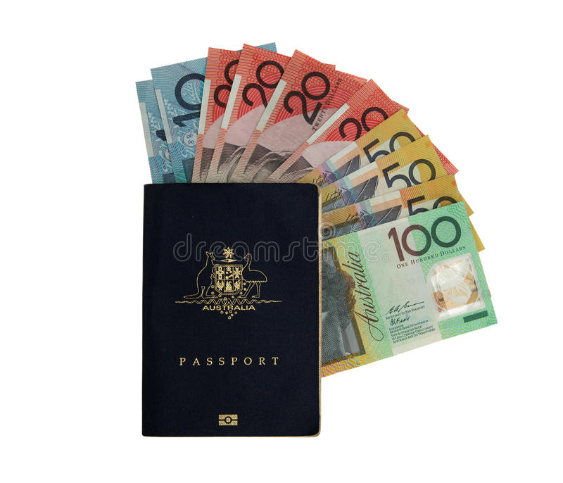 澳大利亚货币 免版税图库摄影