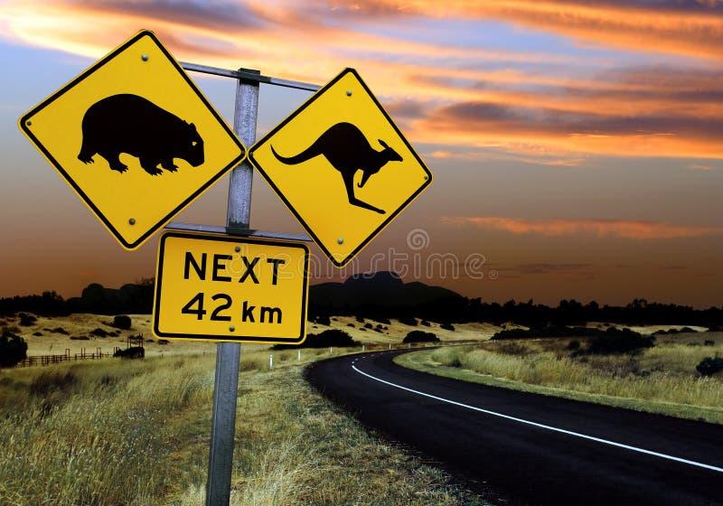 澳大利亚路标 免版税图库摄影