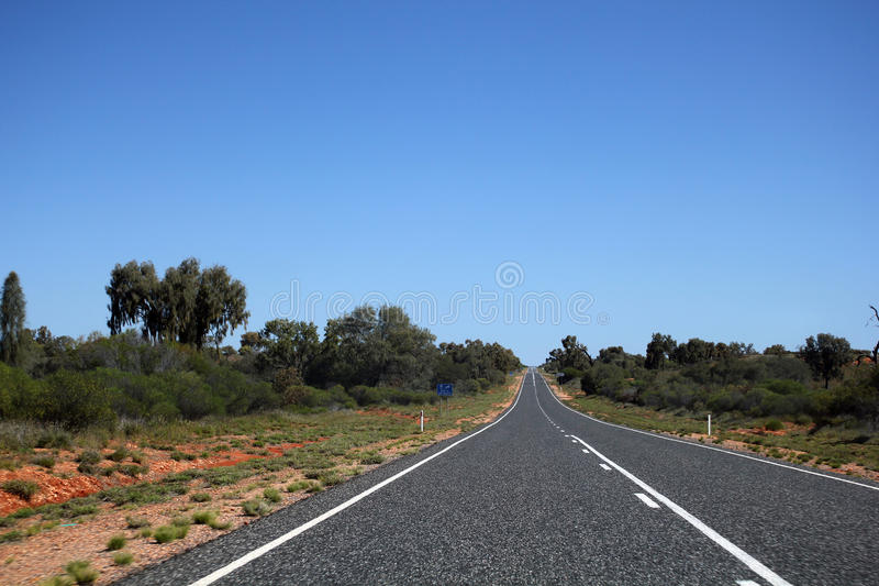 澳大利亚路 免版税库存照片