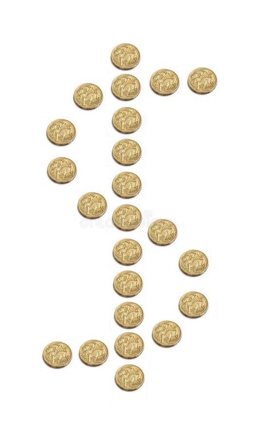 澳大利亚铸造美元 库存照片