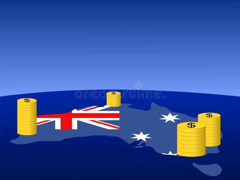 澳大利亚铸造美元 向量例证