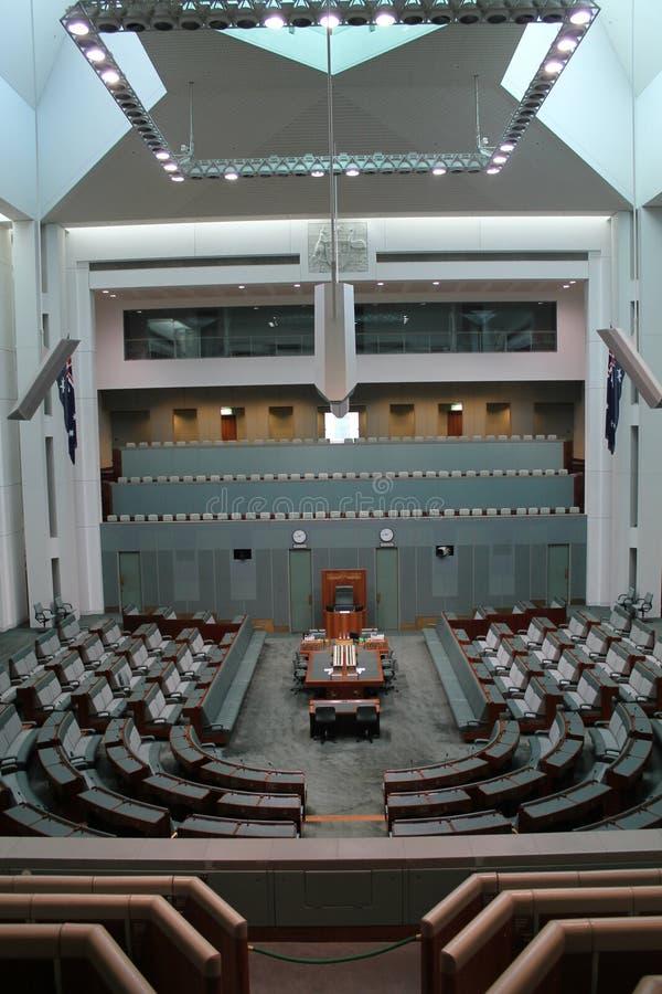 澳大利亚首都堪培拉的澳大利亚议会 免版税图库摄影