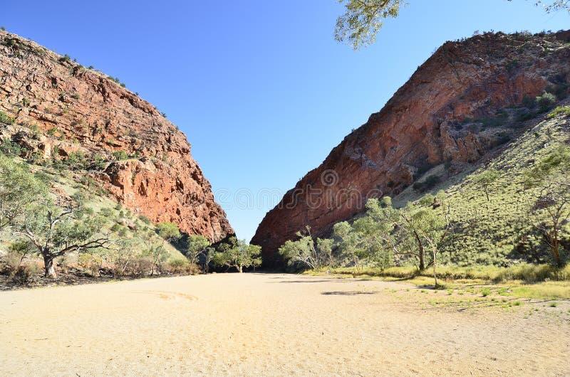 澳大利亚,北方领土,在内地风景 免版税库存照片