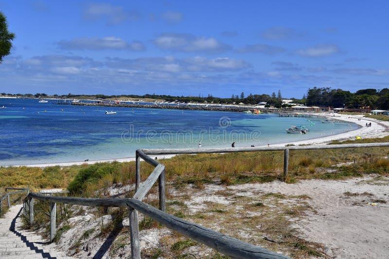 澳大利亚,海滩在Rottnest海岛 免版税库存图片