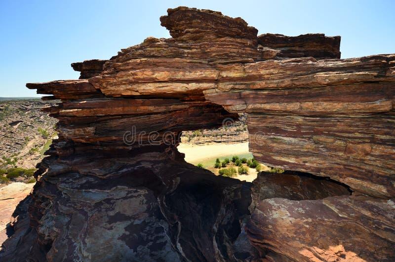 澳大利亚,澳大利亚西部,自然的窗口 图库摄影