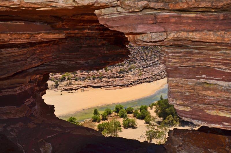 澳大利亚,澳大利亚西部,自然的窗口 免版税库存照片