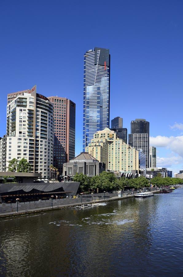 澳大利亚,维多利亚,墨尔本,亚拉河的Southbank区 库存照片