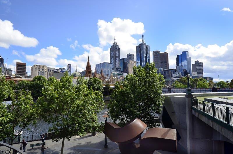 澳大利亚,维多利亚,墨尔本,都市风景 免版税库存图片