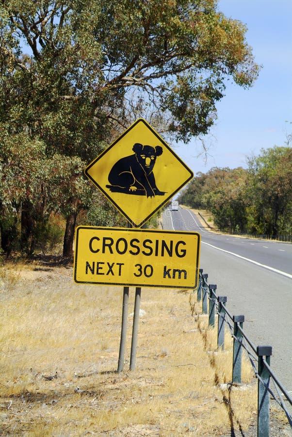 澳大利亚,路标 免版税库存照片