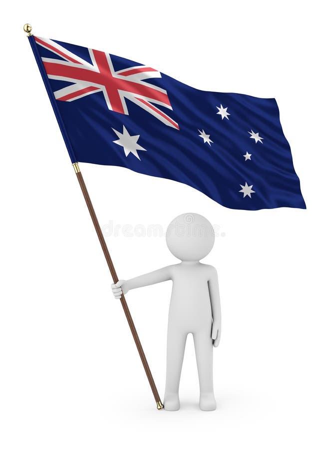 澳大利亚3D翻译澳大利亚爱国者藏品旗子  皇族释放例证