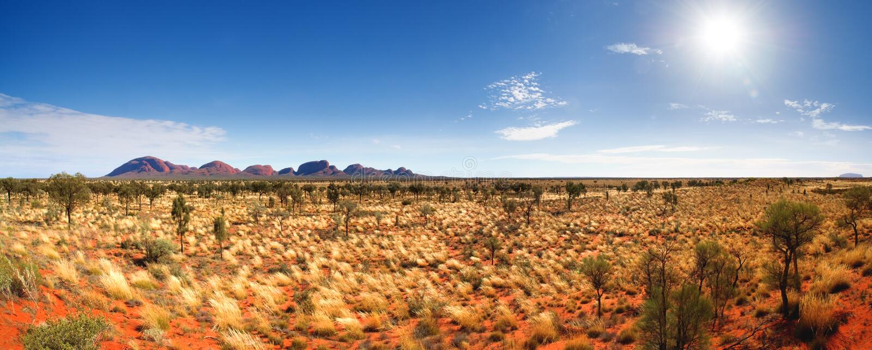 澳洲中央全景 免版税库存图片