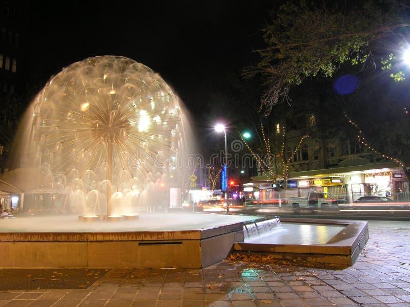 澳洲交叉喷泉国王悉尼 库存照片