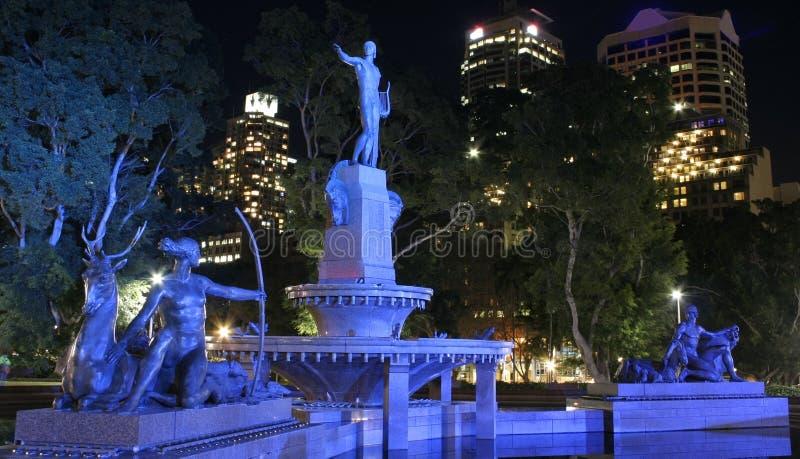 澳洲喷泉海德公园悉尼 免版税库存照片