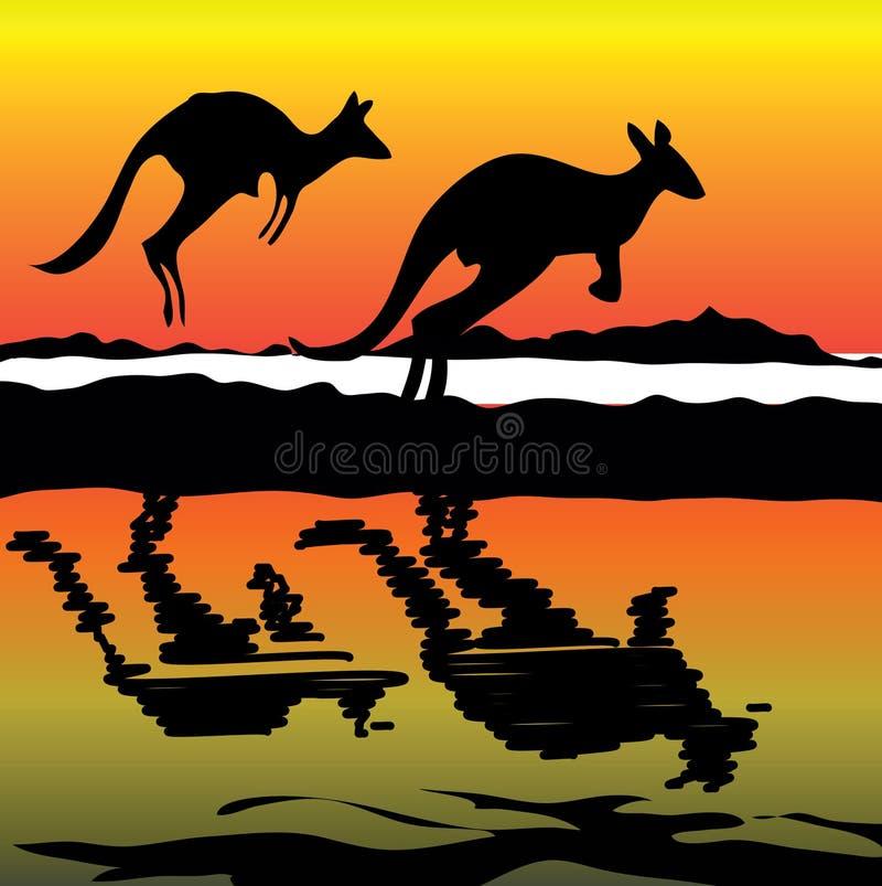 澳洲图标袋鼠 库存例证