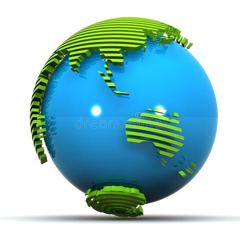 澳洲地球绿色日本 皇族释放例证