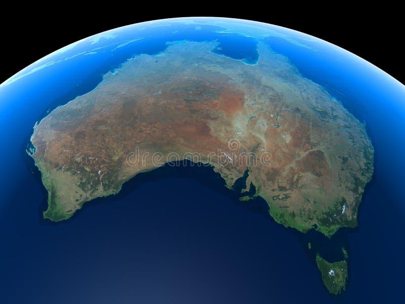 澳洲地球 库存例证