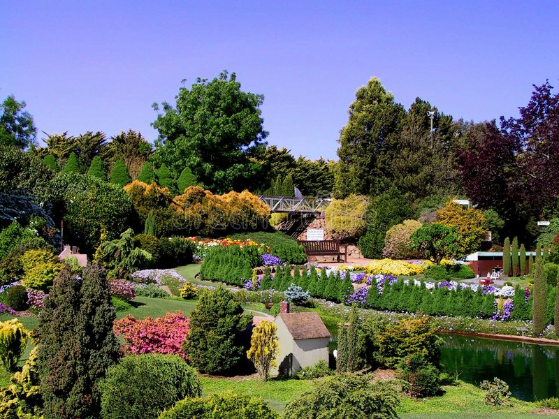 澳洲堪培拉庭院 免版税图库摄影