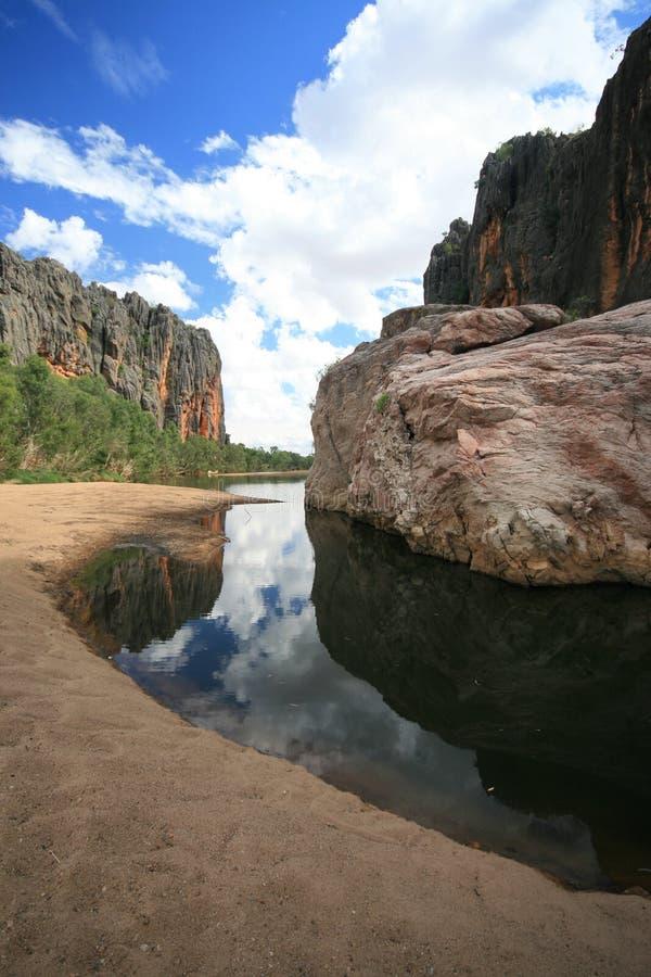 澳洲峡谷windjana 图库摄影