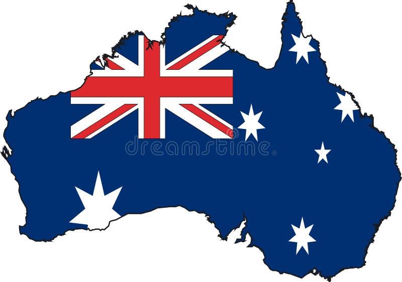 澳洲映射向量 向量例证
