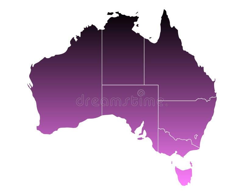 澳洲映射 向量例证
