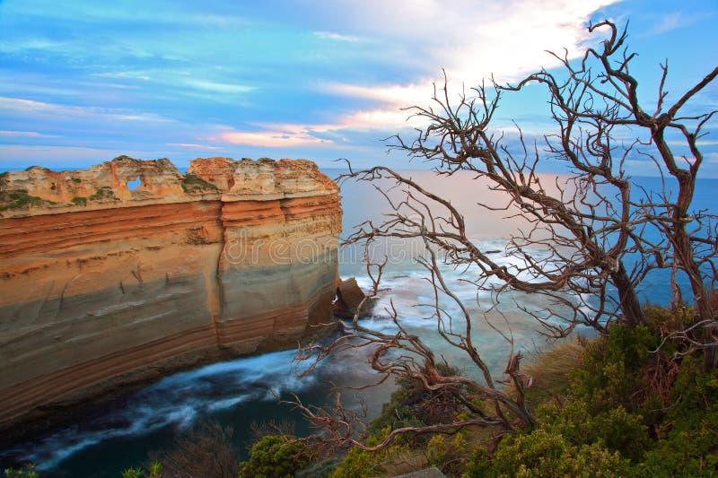 澳洲极大的墨尔本海洋路 图库摄影