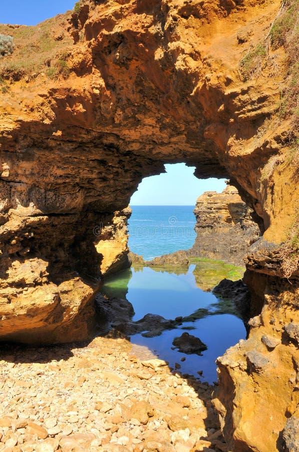 澳洲极大的洞穴海洋路 库存照片