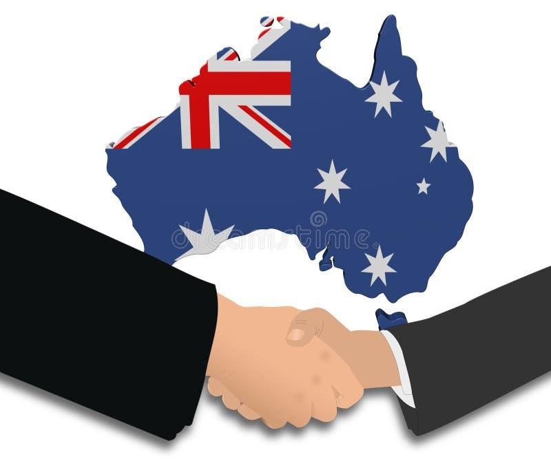 澳洲标志信号交换映射 皇族释放例证