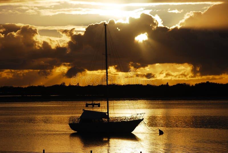澳洲海岸金子日出 图库摄影