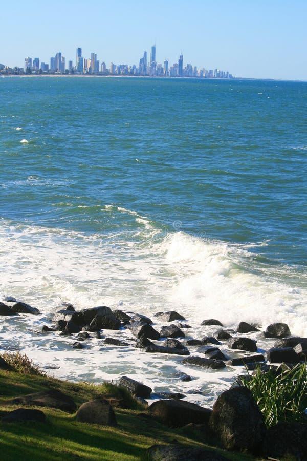 澳洲海岸金子 图库摄影