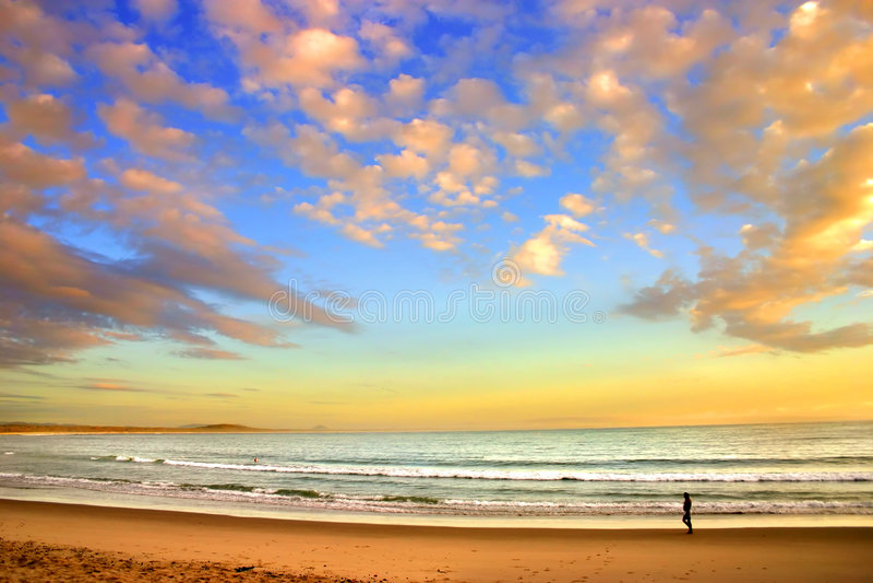 澳洲海岸阳光 图库摄影