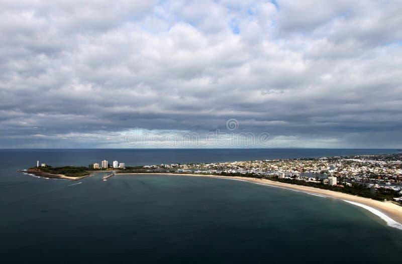 澳洲海岸mooloolaba阳光 库存照片
