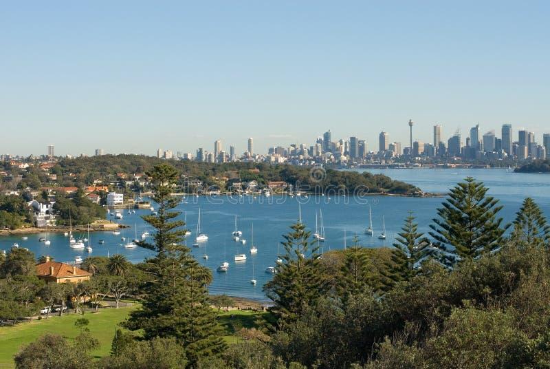 澳洲海湾悉尼watsons 库存照片