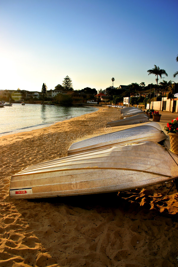 澳洲海湾nsw watsons 免版税图库摄影