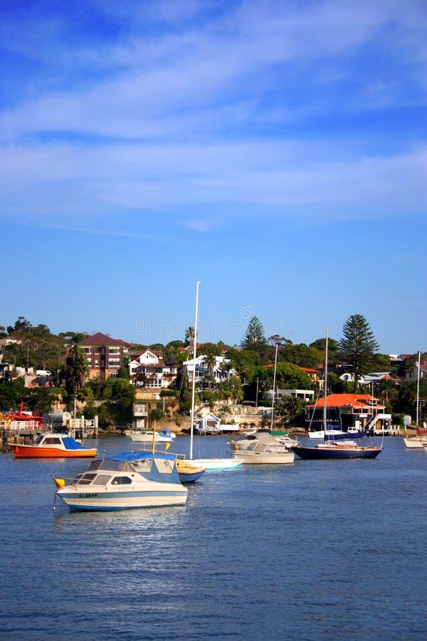 澳洲海湾nsw watsons 库存照片