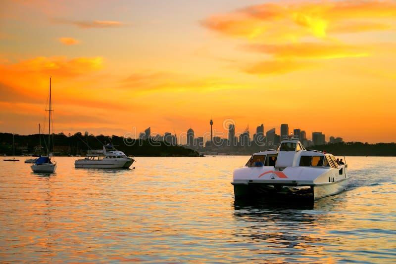 澳洲海湾nsw watsons 免版税库存照片