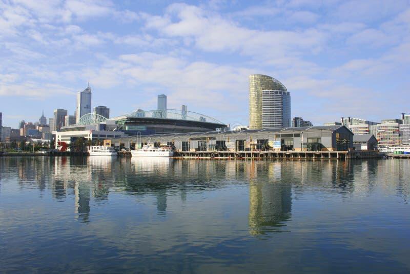 澳洲港区墨尔本 库存照片