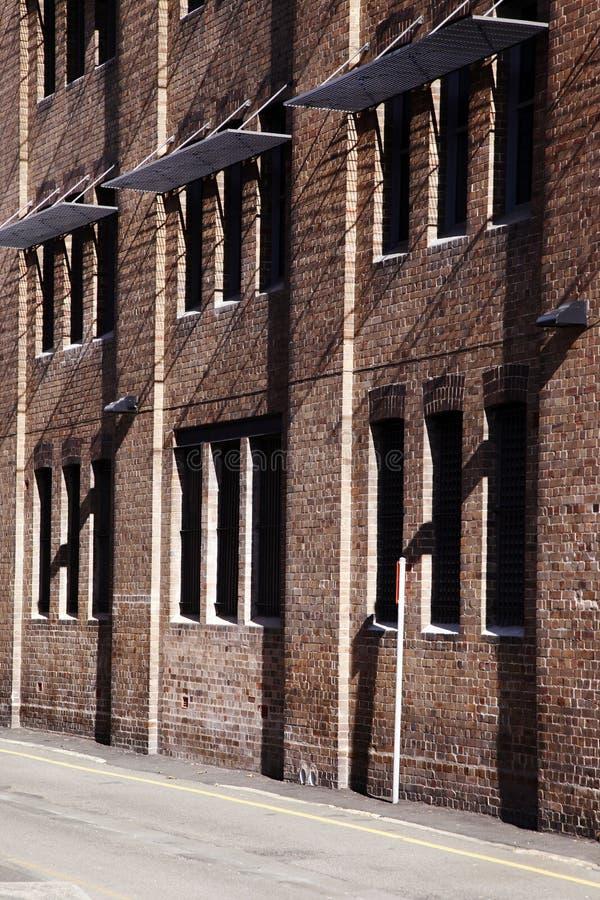 澳洲砖瓦房红色悉尼墙壁 免版税图库摄影