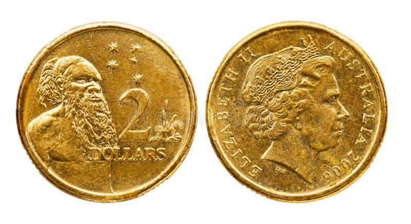 澳洲硬币美元二 库存图片