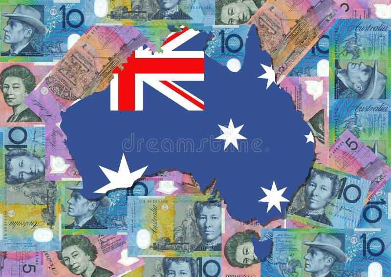 澳洲美元映射 向量例证