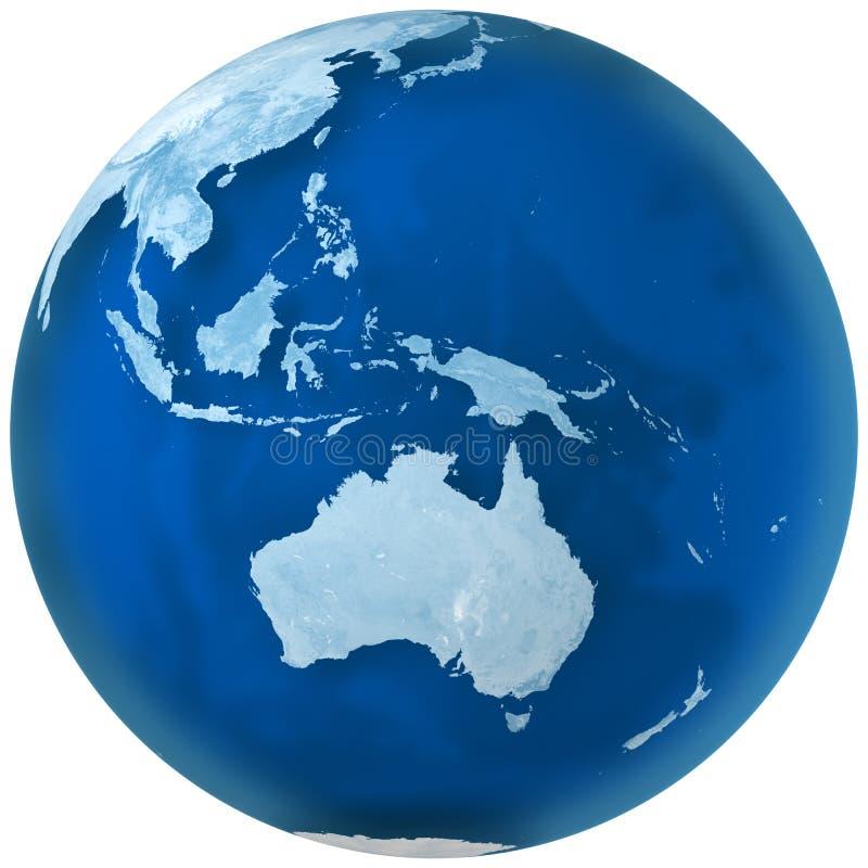 澳洲蓝色地球 向量例证
