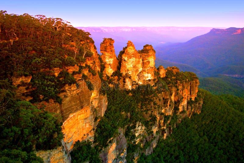 澳洲蓝色山nsw 免版税库存照片