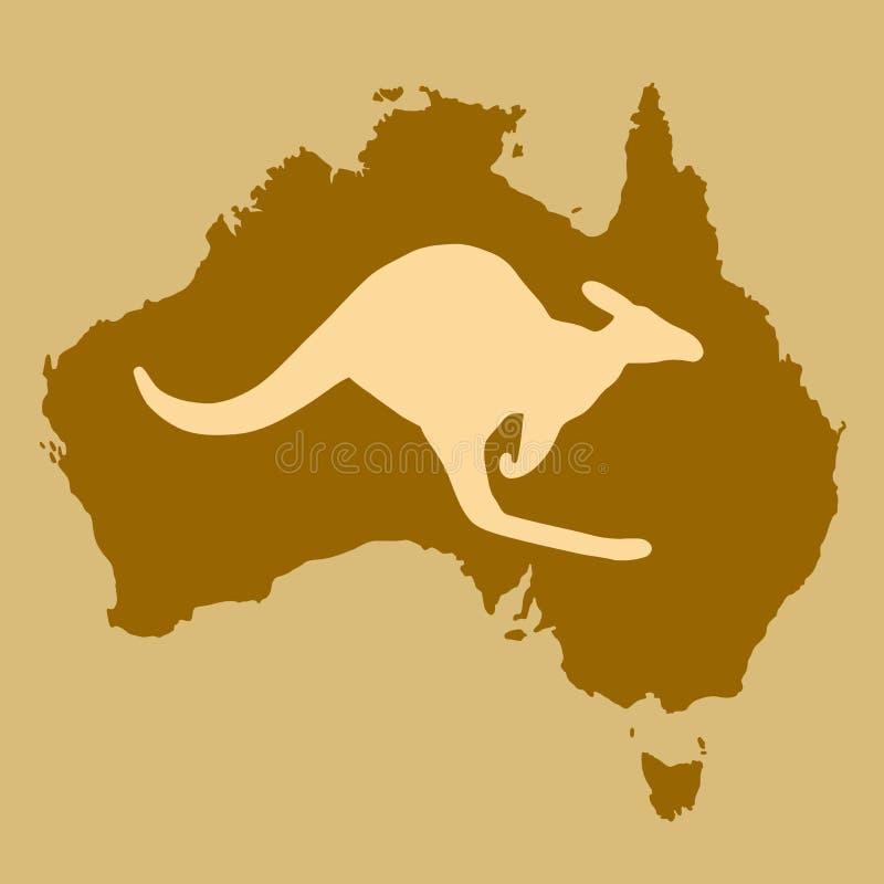 澳洲袋鼠 皇族释放例证