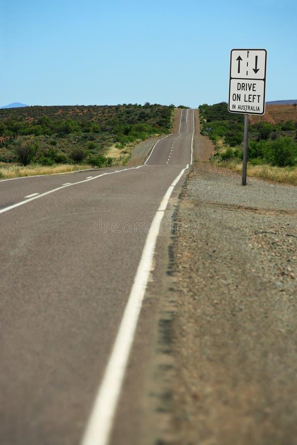 澳洲驱动器离开 免版税库存照片
