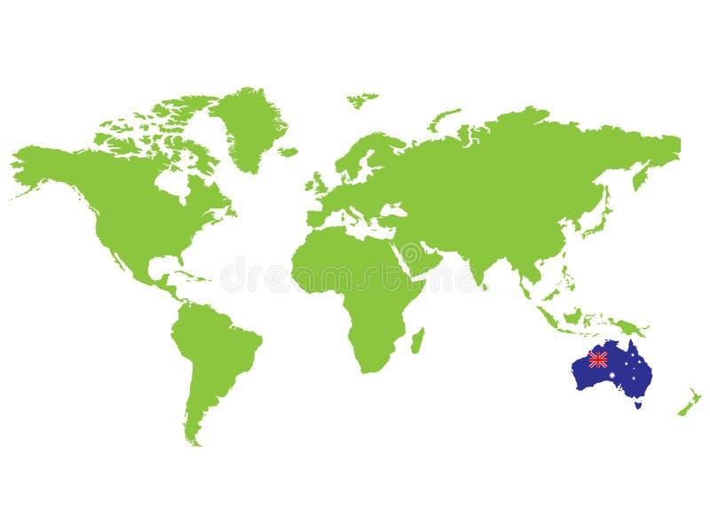 澳洲 向量例证